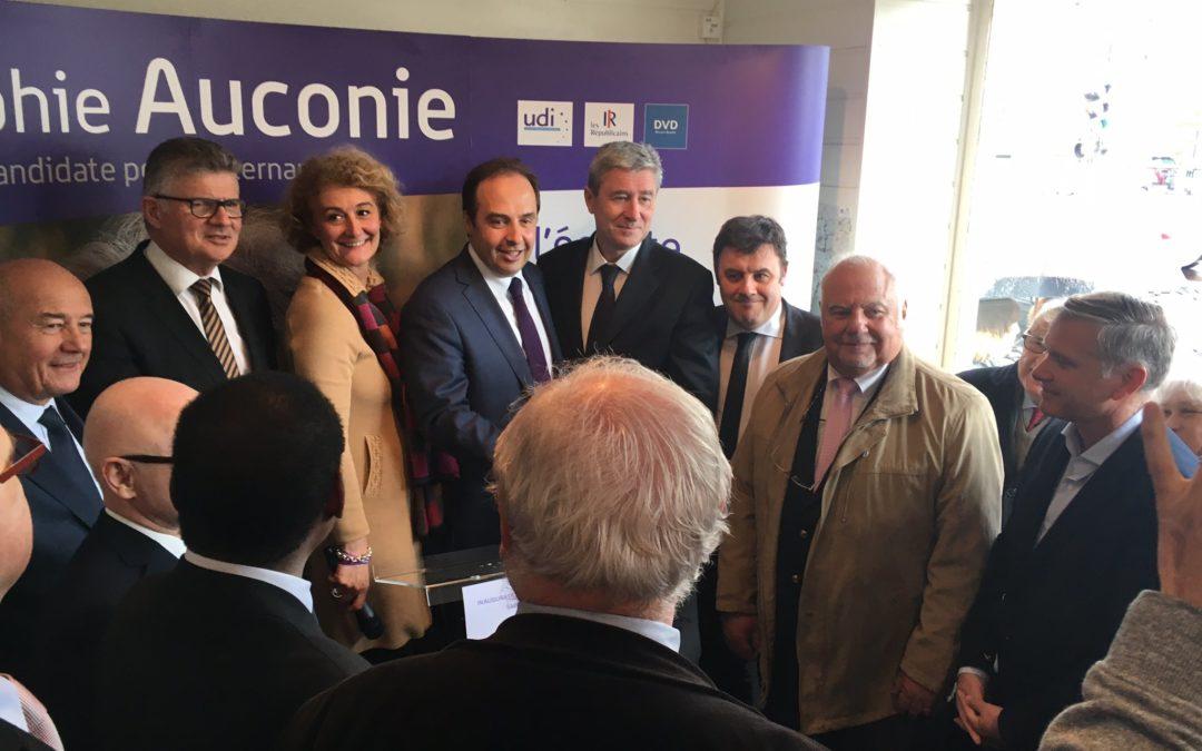 Déplacement de Jean-Christophe Lagarde en soutien à Sophie Auconie