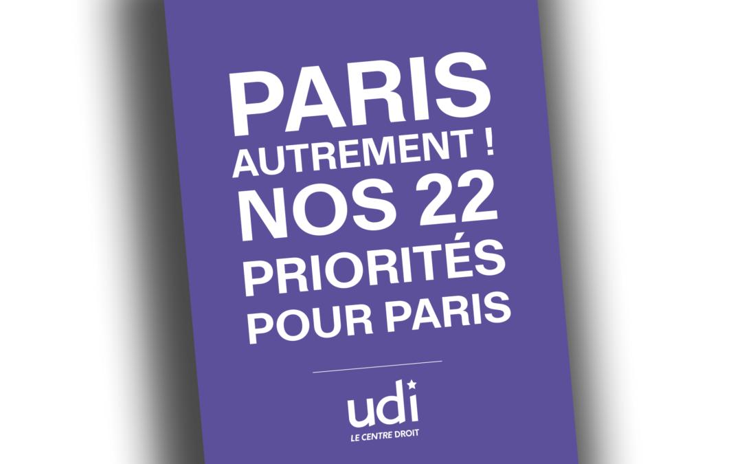 Le projet de l'UDI pour les municipales à Paris