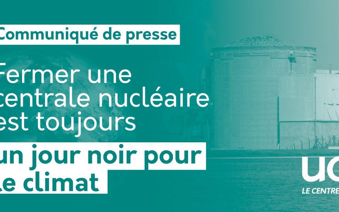 Fermer une centrale nucléaire est toujours un jour noir pour le climat