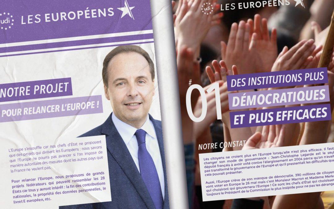 UDI: notre projet pour les élections européennes 2019