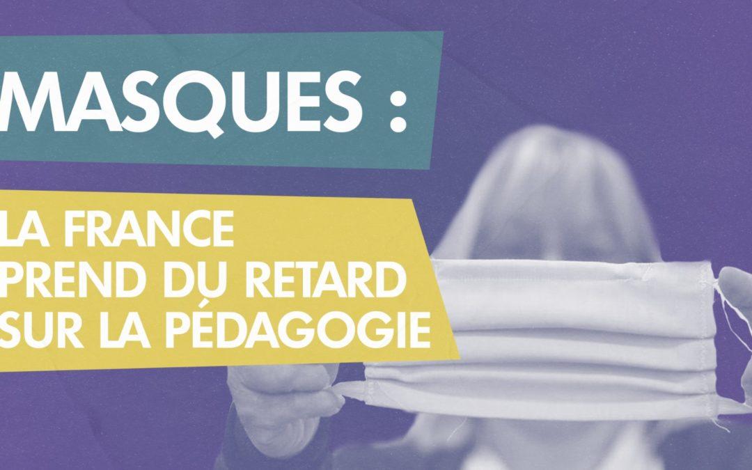 Masques : la France prend du retard sur la pédagogie